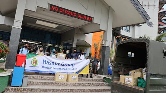 Hasnur Group Memberikan Bantuan Penanganan Covid-19